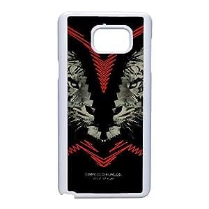 Marcelo Burlon U6X3Xq Funda Samsung Galaxy Nota 5 Funda caja del teléfono celular blanco K8N3XA funda caja del teléfono celular de encargo durable