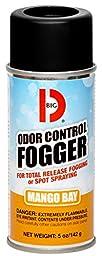 Big D 374 Odor Control Fogger, 5 oz Aerosol Can, Mango Bay Fragrance (Pack of 12)