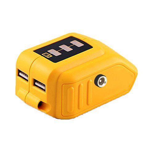 12V/20V Max Power Source for Dewalt Heated Jacket DCB091 Converters With USB and 12V Outlets Work with Lithium Battery by WEQCTER (Image #5)