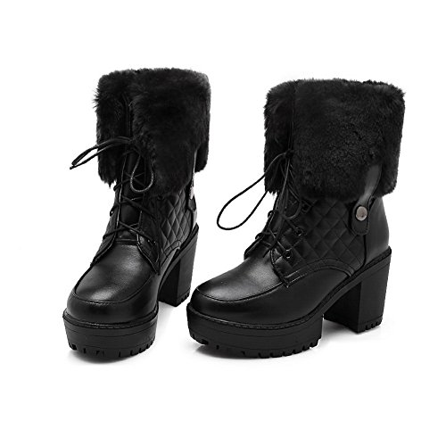 Solid Black 1TO9 Boots Platform Womens Boots Urethane qRqY6tHx