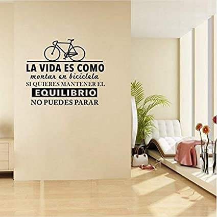 Home Decor Wall Stickers Diy Non-toxic Bike Wall Sticker Quote Life Is Like Riding A Bicycle Sport Vinyl Decal Of Home Living Room Decoration