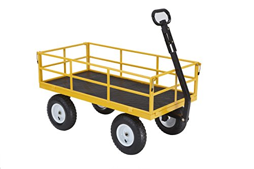 (Gorilla Carts Heavy-Duty Steel Utility Cart with Removable Sides and 13
