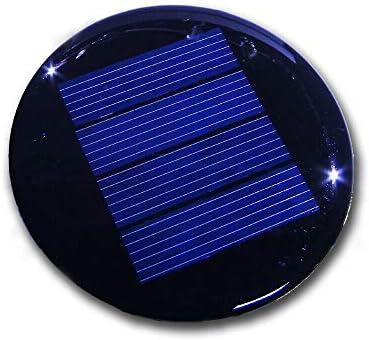 3 Stück Solarzelle 2V 125mA 0,25W Durchmesser 67mm Polykristallin vergossen , z.B. für Solarleuchte mit 1,2V Akku u. LED