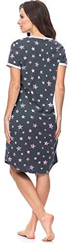 Italian Fashion IF Lactancia Camisón para Mujer Kometa 0114 Grafito/Rosa