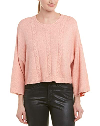 Jack by BB Dakota Junior's Extra Whip Cable Knit Mock Neck Sweater, Peach Beige Large ()