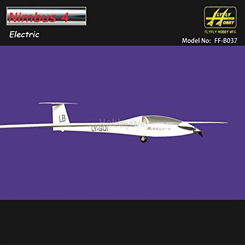 Nimbus 4000mm Electric Glider with Brake Retract Motor Prop Spinner RC Fiberglass Sailplane ()