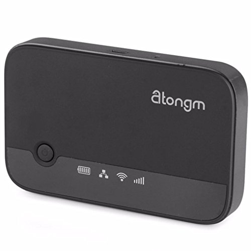 Wireless Travel Router, Atongm 3G Mobile Power Router Hard Drive Companion W300 Specification for windows XP 、windows Vista、windows 7、apple、androind system (Black) (Gift Card Electonic compare prices)