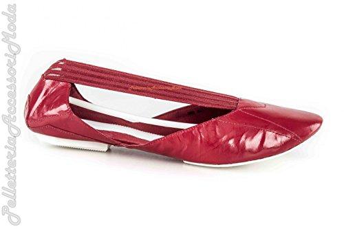 Y-3 Yamamoto Chaussures Pour Femmes Ballerines Rouges En Cuir N.38 2/3 Adidas X912