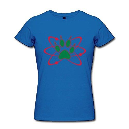 Happy Halloween Atom Bear Paw 100% Cotton Women's T Shirt SkyBlue Size XL Newest By By Rahk