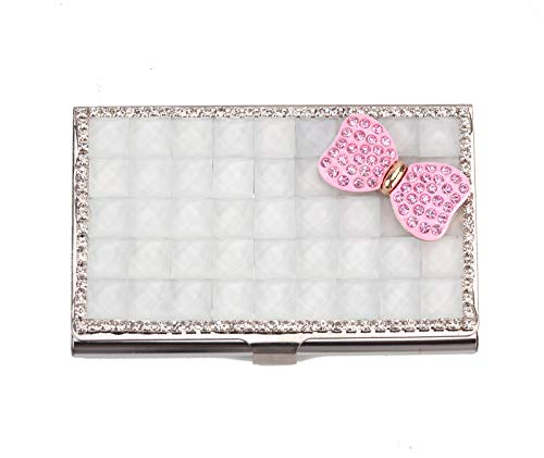 SA@ Purely Handmade Luxury Bling Crystal Rhinestone Business Card Case Name ID Card Holder - Case Card Crystals Business