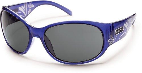 Suncloud Polarized Sunglasses Carousel in Crystal-Purple Laser & Gray - Polarized In Sunglasses