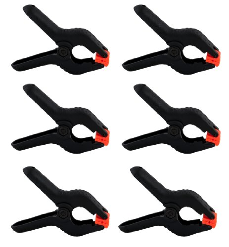 Cheaplights - Heavy Duty Muslin Clamps 4 1/2 inch 6 Pack ()