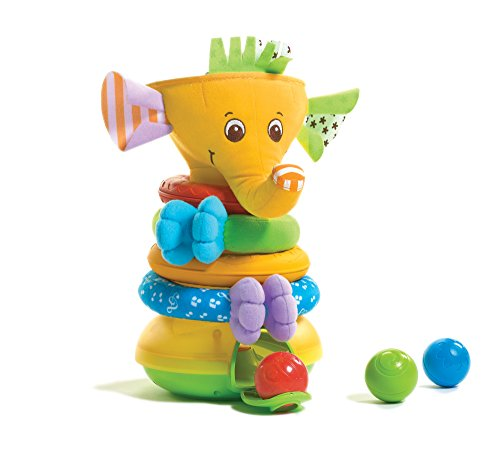Elephant Stacking Toy (Tiny Love Musical Stack and Ball Game, Yellow)
