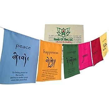 Amazon Inspirational Tibetan Prayer Flag Style Hanging