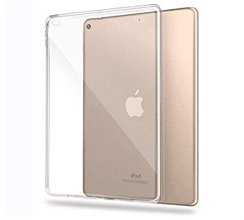 フォーム黒人キリンRoiCiel iPad 6(Air2)用ケース透明 クリア ソフトカバー 衝撃吸収 高品質TPU シリコン 落下防止 防指紋 軽量 超薄 耐衝撃ケース衝撃吸収カバー 擦り傷防止 ストラップホール付き (iPad 6(Air2), ソフトクリア)