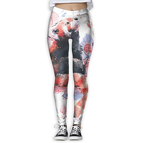 e5a79f1ff64d11 Watercolor Flower Red Panda Stretch Yoga Pants Excercise Yoga Trousers -  Buy Online in UAE.   linshangyi Products in the UAE - See Prices, Reviews  and Free ...