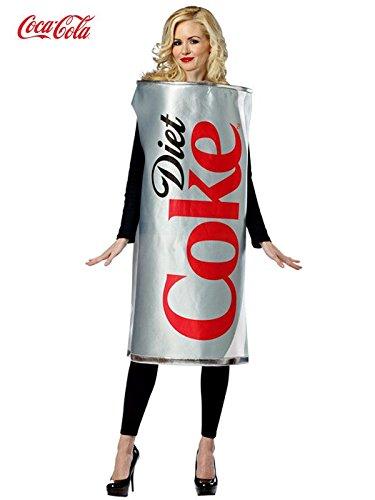[Rasta Imposta Diet Coke Can, Silver, One Size] (Pepsi Costume Halloween)