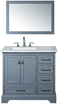Stufurhome HD-7130G-36-CR Newport Single Sink Bathroom Vanity Set