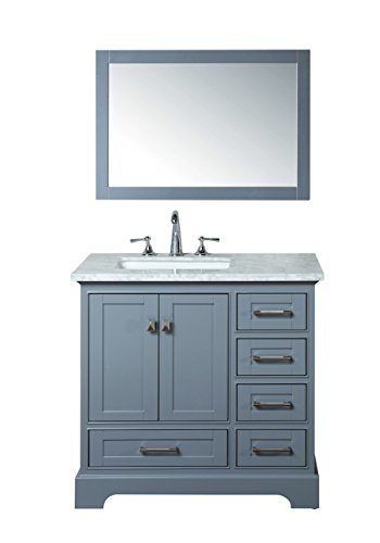 Stufurhome HD-7130G-36-CR Newport Single Sink Bathroom Vanity Set, 36 , Grey