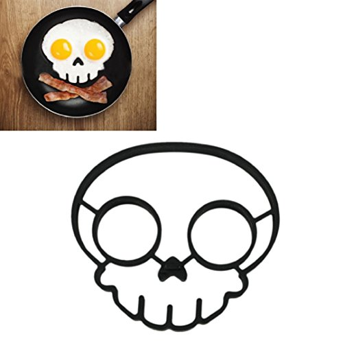 BinmerTMEgg-Mold-Non-stick-Silicone-Novelty-Skull-Egg-Fried-Frying-Mould-Pancake-Mold-Ring-Cooking-Breakfast-Tools