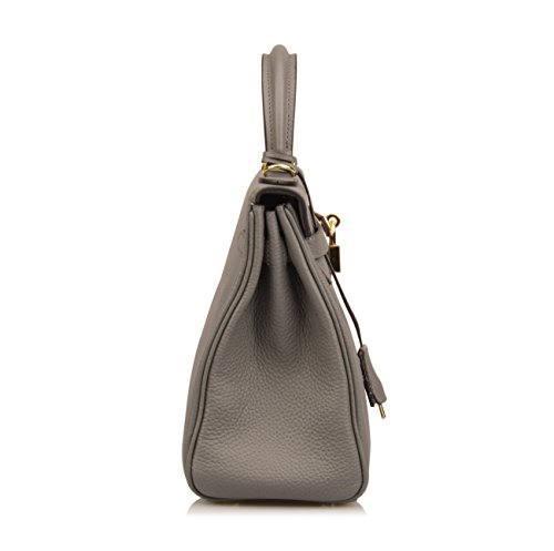 Women's Ainifeel Shoulder Bag Purses Handbags 28CM Padlock 25 CM Hobo 32CM Grey Hrqd4vr