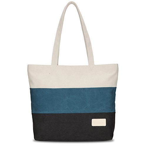 Bag For Shoulder Tote Section Cross Black Beach Large Hangbag Canvas Women qgtHp6
