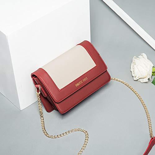 Retro Xmy Mode Léger Abricot Casual Petit Sac Rouge Messenger Chaine Épaule Femelle Sauvage zPzrRwqAO