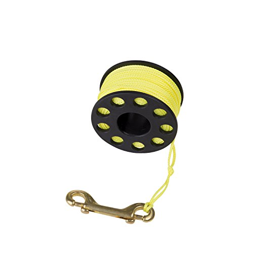 IST 165 Feet Finger Reel/Dive Line Spool with Clip, Safety Equipment/Gear for Scuba, Cave & Wreck Diving