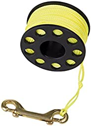 Trident Finger Reel with Brass Clip Wreck Scuba Diving Tech Spool Reel, Large 160 FT - 160' Reef Finger Re