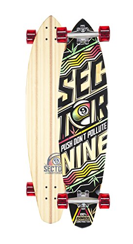 Sector 9 Rhythm Complete Longboard Skateboard Cruiser (Red Wheels, w/ Stock Bearings)