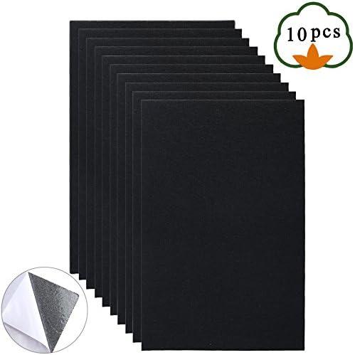 [해외]Adhesive Felt Sheets ETSAMOR 10pcs A4 Size 8.3 x 11.8 Black Fabric Sticky Back Sheets Premium Adhesive Backing Multi-Purpose for Art and Craft Making / Adhesive Felt Sheets, ETSAMOR 10pcs A4 Size 8.3 x 11.8 Black Fabric Sticky Back...