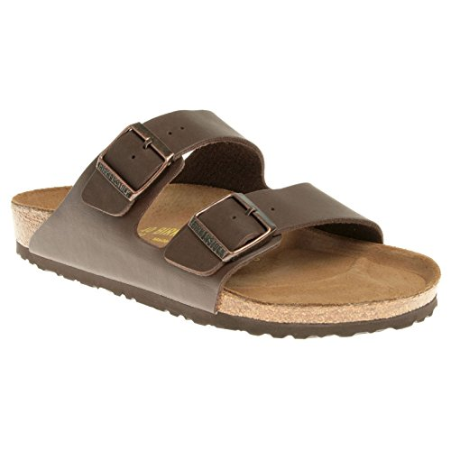 (Birkenstock Arizona Birko-Flor Dark Brown Sandal - 8M / 6M )