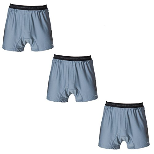 Exofficio Men's Give-N-Go Boxer 1241-0016 - 3 Pack (M, Charcoal)