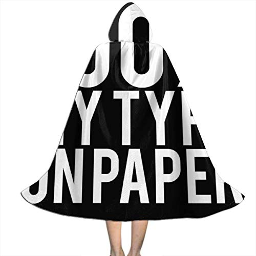 Love Island Quote 100 Percent My Type On Paper White Unisex Kids Hooded Cloak Cape Halloween Xmas Party Decoration Role Cosplay Costumes (100 My Type On Paper Love Island)