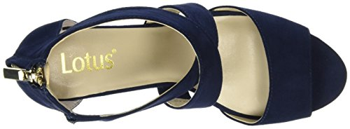 Lotus Cheeney, Sandalias con Cuña Mujer Azul (Navy Micro)