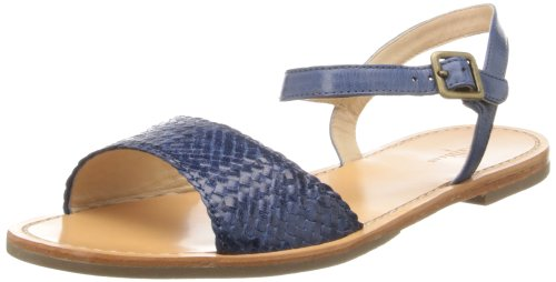 Cole Haan Dames Riet Geweven Sandaal Blauw