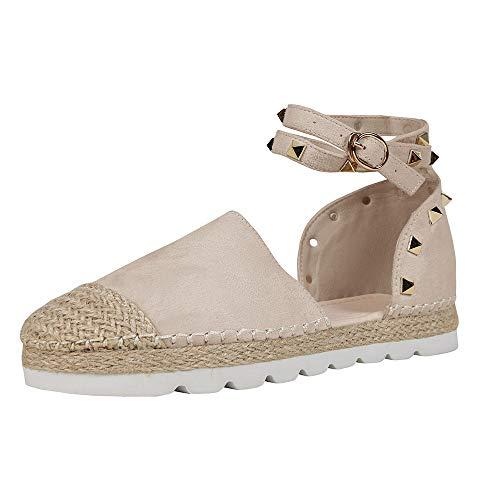 Syktkmx D'Orsay Platform E Womens Summer Wrap Lace Flat Pink Ankle Espadrilles up Strap light Sandals xUwnx7