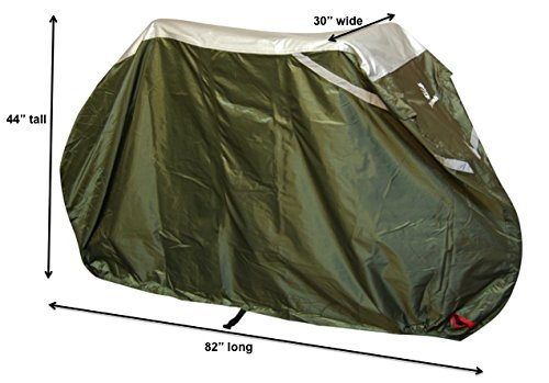 YardStash Bicycle Cover XL: Extra Large Size for Beach Cruiser Cover, 29er Mountain Bike Cover, Electric Bike Cover, Multiple Kids' Bike Cover and Cover for Bikes with Baskets, Child Seats or Racks by YardStash (Image #2)