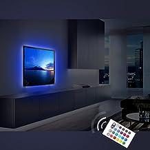 Derlson Bias Lighting for TV. Decorative Light / LED Strip Lights / Backlight Kit / Ambient lighting for Home-Theater ,Under Cabinet , Furniture, Decoration (Multi-Color RGB, Remote Control)
