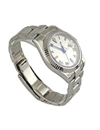 Parnis 40mm Mechanical White Dial Blue No.sapphire Glass Automatic Watch P042910 by Parnis