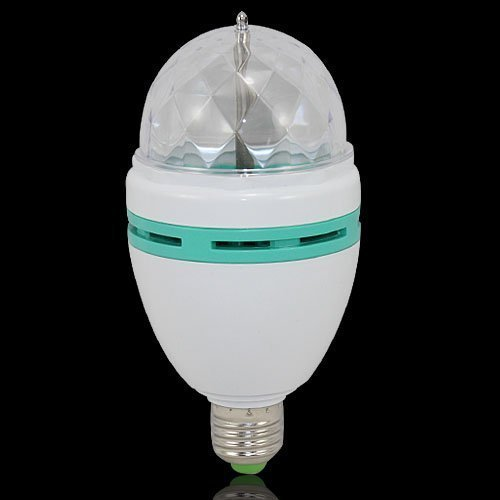 E27 3W RGB Auto Rotating Sound Activated LED Stage Party Dance Light Bulb Lamp by pay4save Inc.