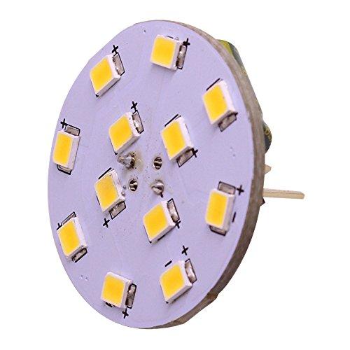 G4/GU4 Back Pin Bi-Pin Base LED Bulb 12V-24VAC/DC 2835 SMD 2W Replace 20W Halogen Bulbs White Warm White for RV Marine Hotel 4 Pack (Warm White)