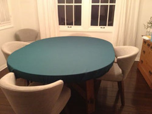 Playezze Felt Poker Tablecloth Cover For Round Tables ...