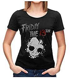 Bioworld Friday The 13th Shirt Junior S Skull Graphic Black T Shirt Large