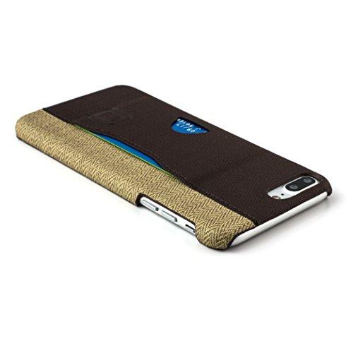 Dockem Kartenhülle – iPhone 7-Rückseitenschutz – Minimalistische Brieftaschenhülle aus Kunstleder – extrem flache, professionelle Business-Hülle zum Aufstecken mit 1 Karteneinschub