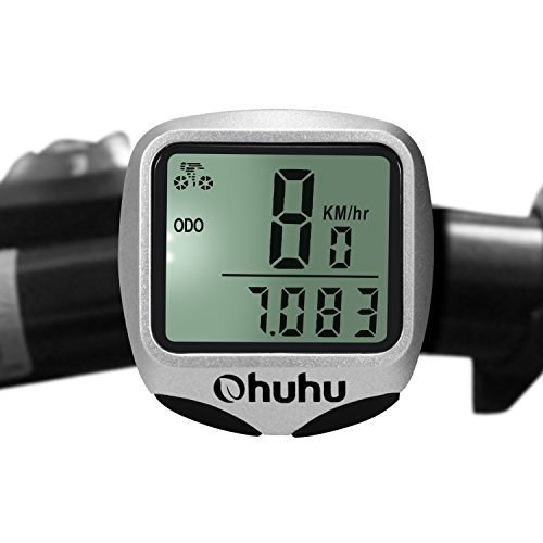 Ohuhu Wireless Bike Computer Odometer Speedometer with LCD Backlight for Cycling by Ohuhu