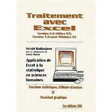TRAITEMENT AVEC EXCEL VERSION 8.0 (OFFICE 97) VERSION 7.0 POUR WINDOWS 95