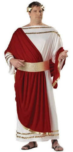 Caesar Deluxe Costumes (California Costumes Men's Caesar,White/Wine/Gold,P (48-52) Costume)