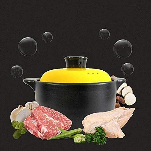 XIAOWEI Casserole Batterie de Cuisine Four hollandais Isolation à économie d'énergie Domestique avec Couvercle céramique Casserole Uniforme Chauffage Facile à Nettoyer