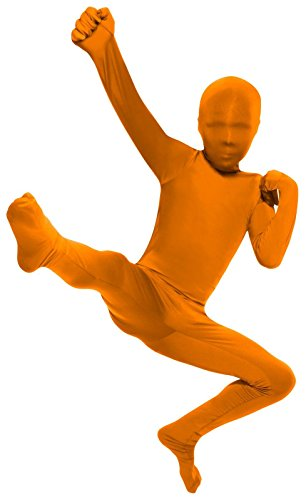 Orange 2nd Skin Suit Kids Costume -